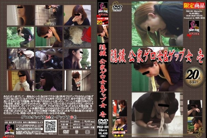 Vomiting 隠撮 公衆ゲロ女&ゲップ女 ポアハウス スカトロ 嘔吐 Hidden Camera PKGD-001 2018 (640x480 SD)